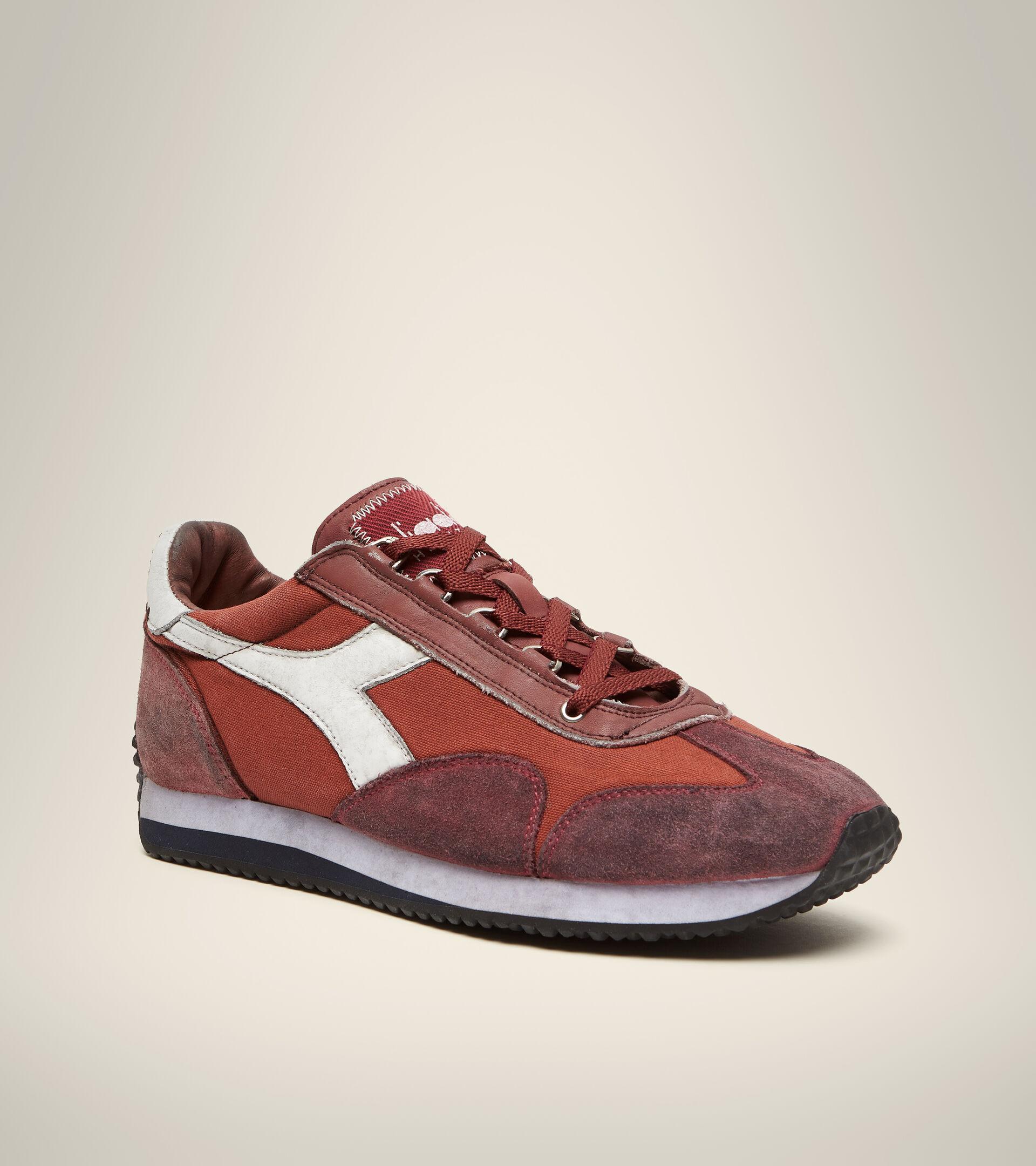 Footwear Heritage UNISEX EQUIPE H DIRTY STONE WASH EVO ROSSO BURN Diadora
