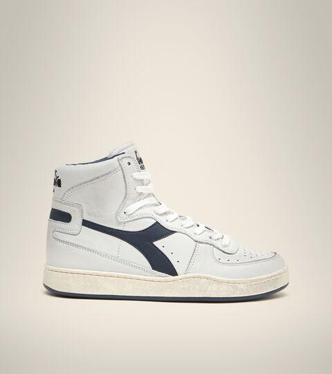 Heritage-Sneaker - Unisex  MI BASKET USED WEISS/SCHWARZ SCHWERTLILIE - Diadora