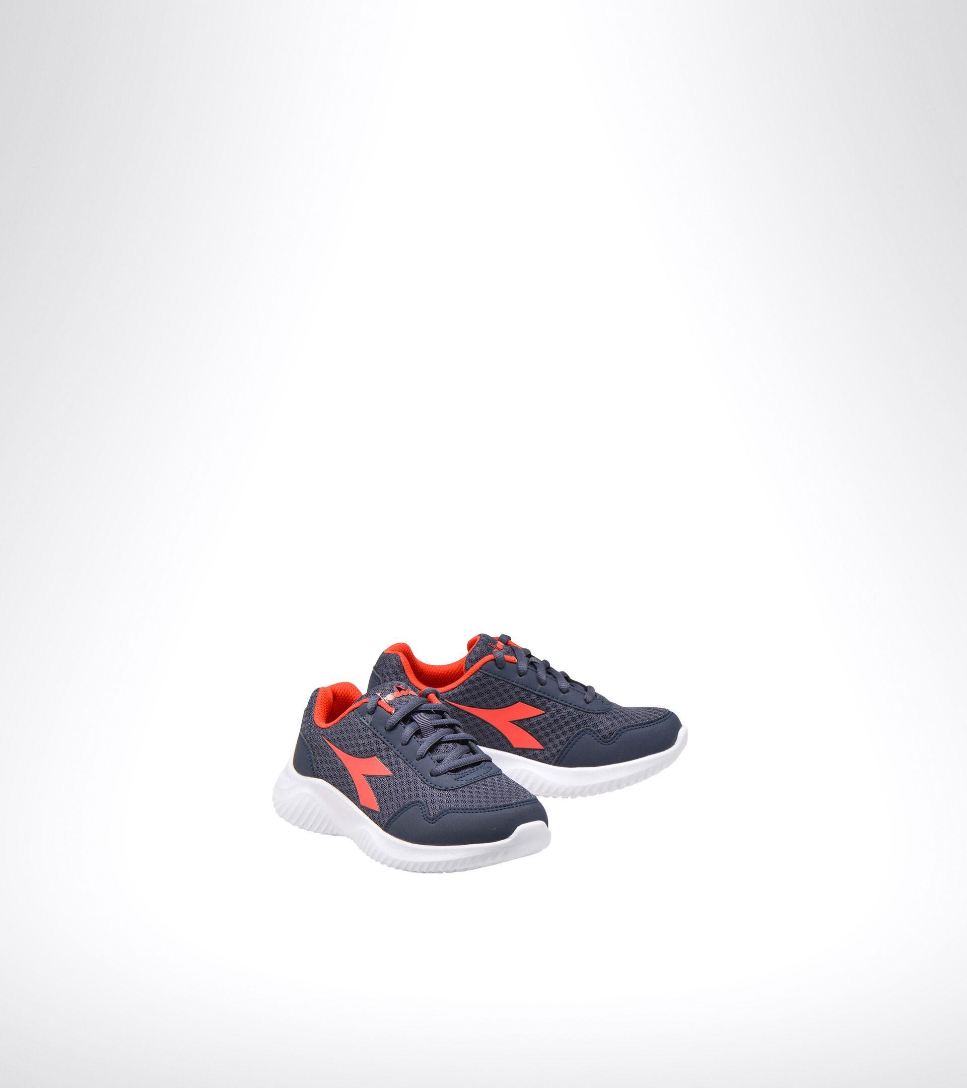 Running shoe - Unisex kids ROBIN 2 JR ESTATE BLUE/HIGH RISK RED - Diadora