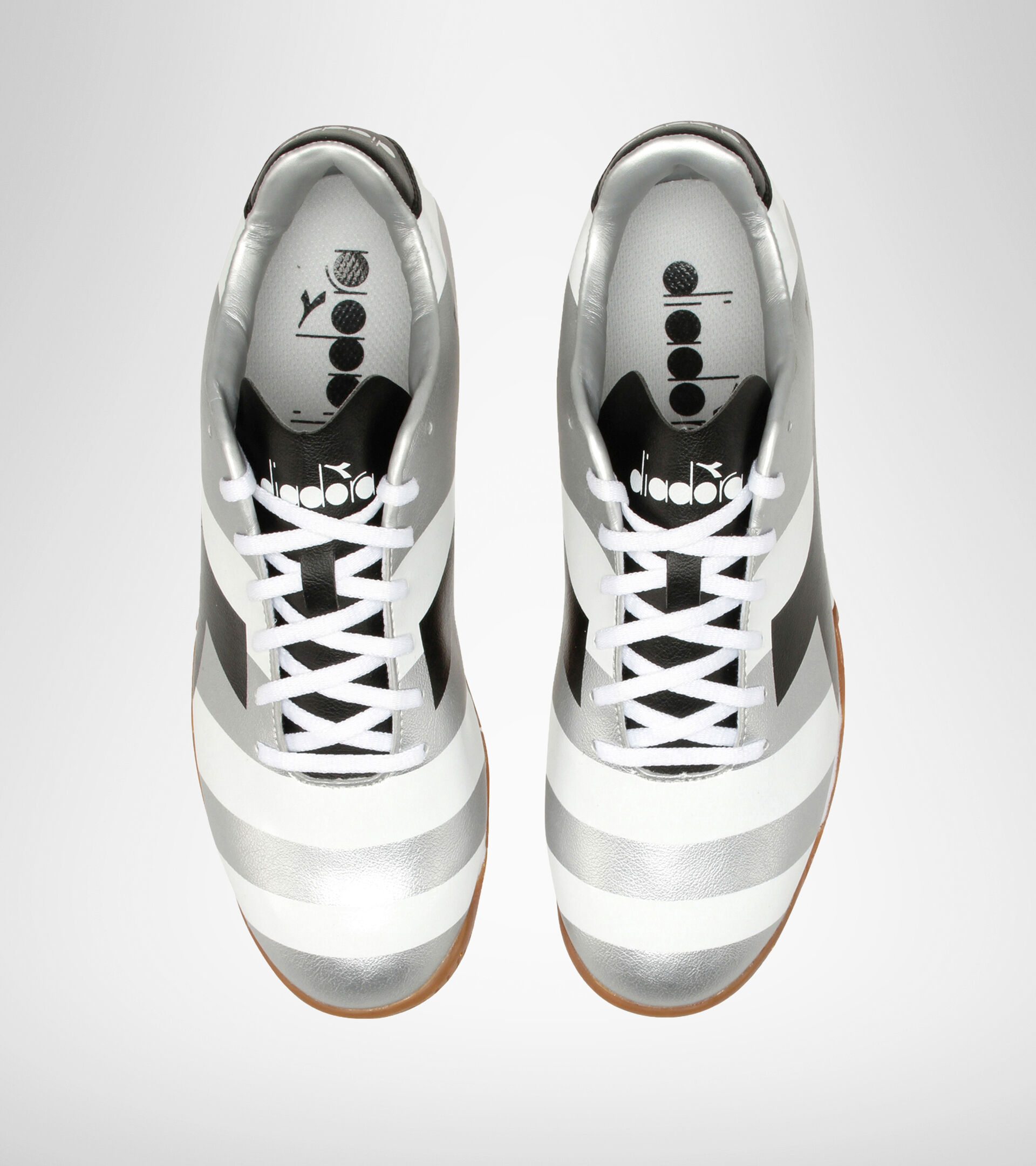 Indoor football boot RAPTOR R ID WHITE/BLACK/SILVER DD - Diadora