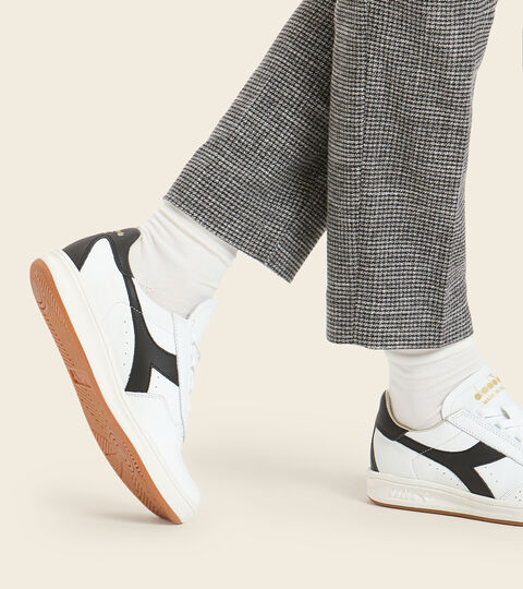 Footwear Heritage UNISEX B.ELITE H ITALIA SPORT BIANCO/NERO/ORO Diadora