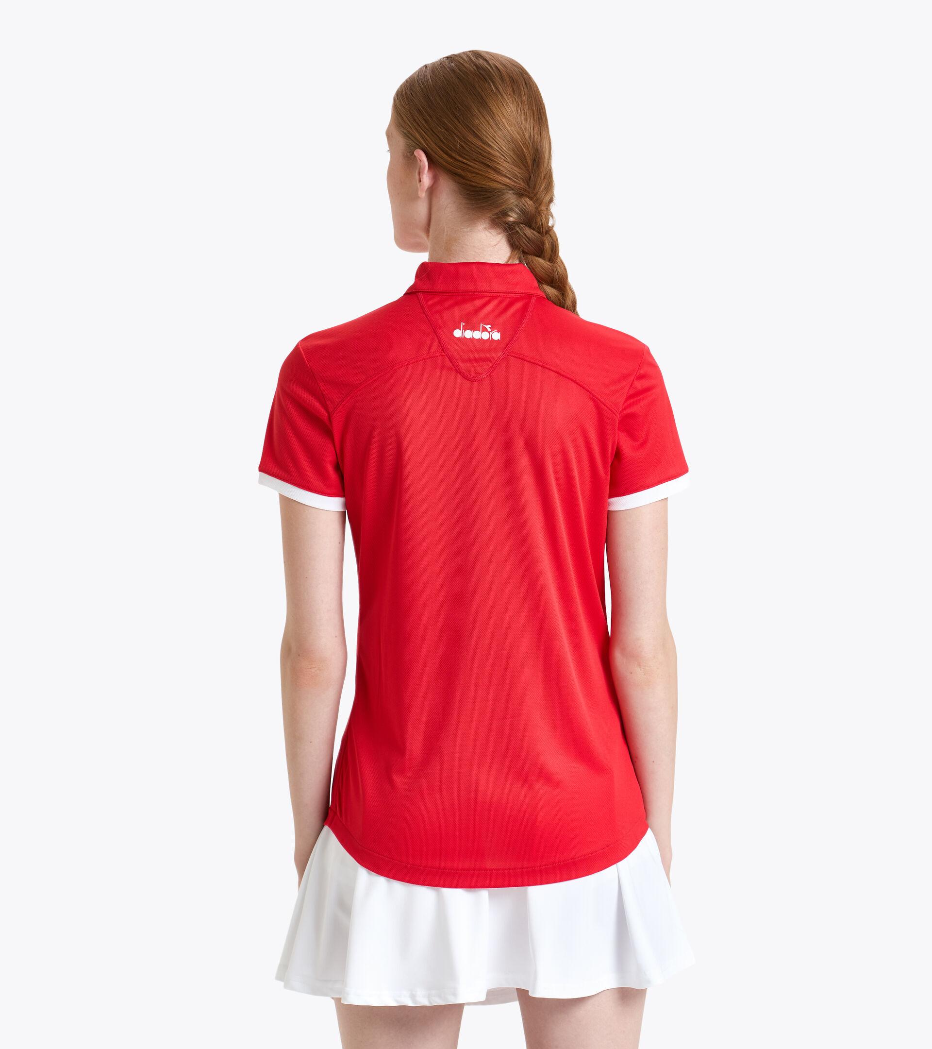 Apparel Sport DONNA L. POLO COURT TOMATO RED Diadora