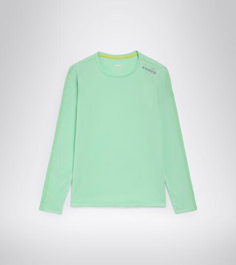Running T-shirt - Women L. LS CORE TEE GREEN ASH - Diadora
