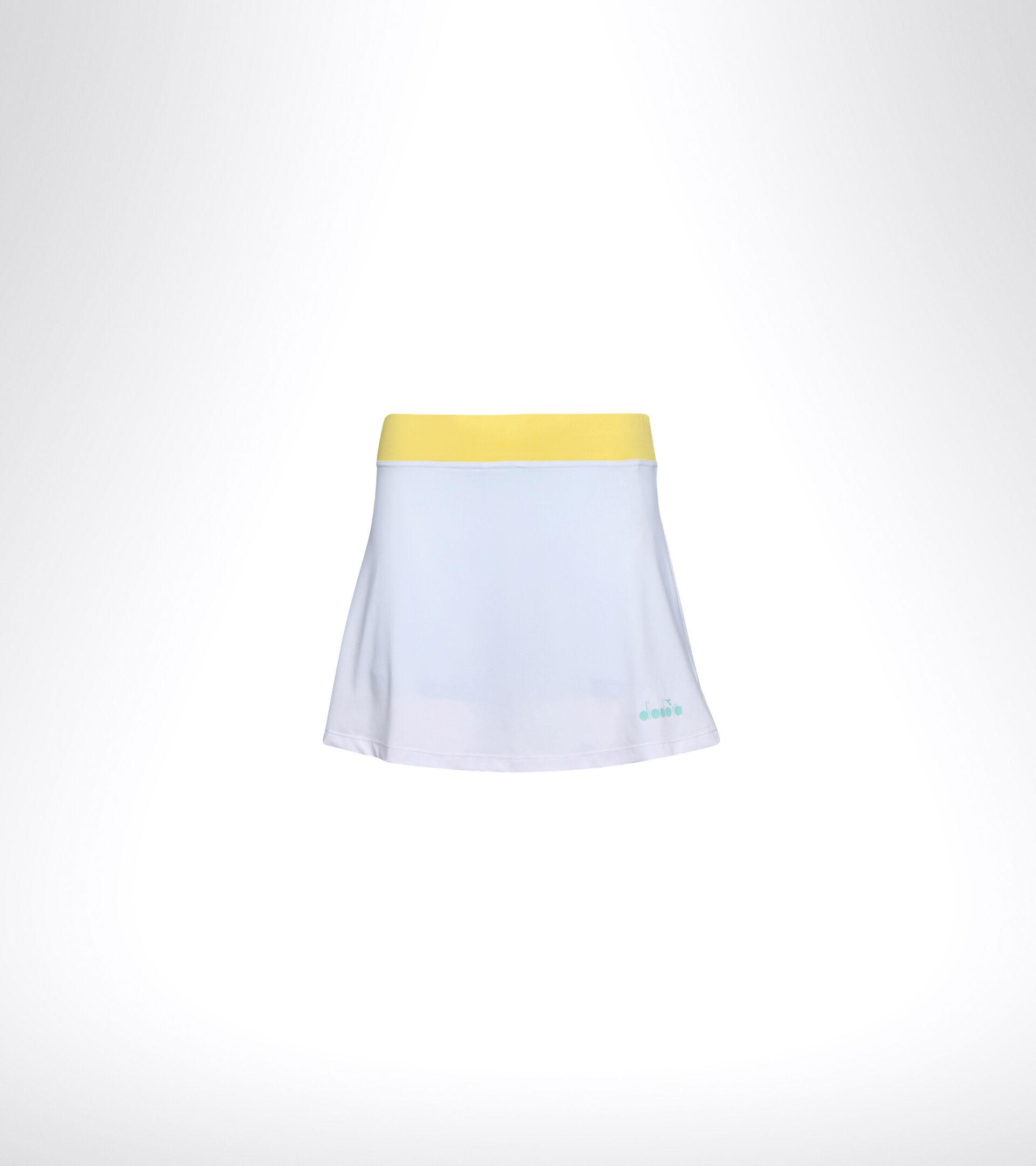 Apparel Sport DONNA L. SKIRT EASY TENNIS SUPER WHITE /TINT BLUE Diadora