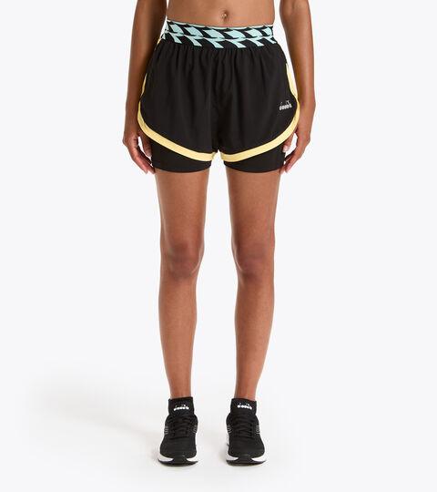 Running shorts - Women L. DOUBLE LAYER SHORTS BLACK - Diadora