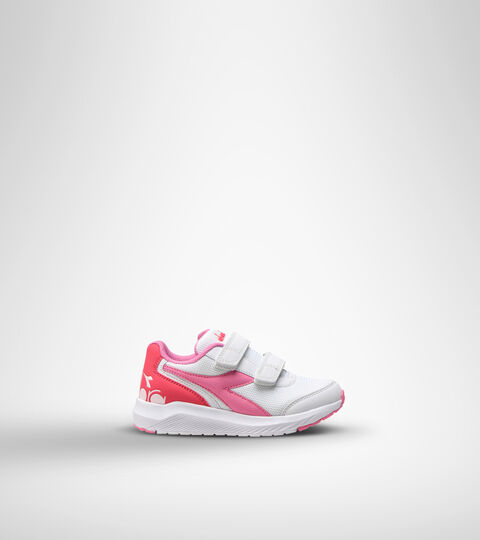 Running shoe - Kids FALCON JR V WHITE/ORCHID PINK - Diadora