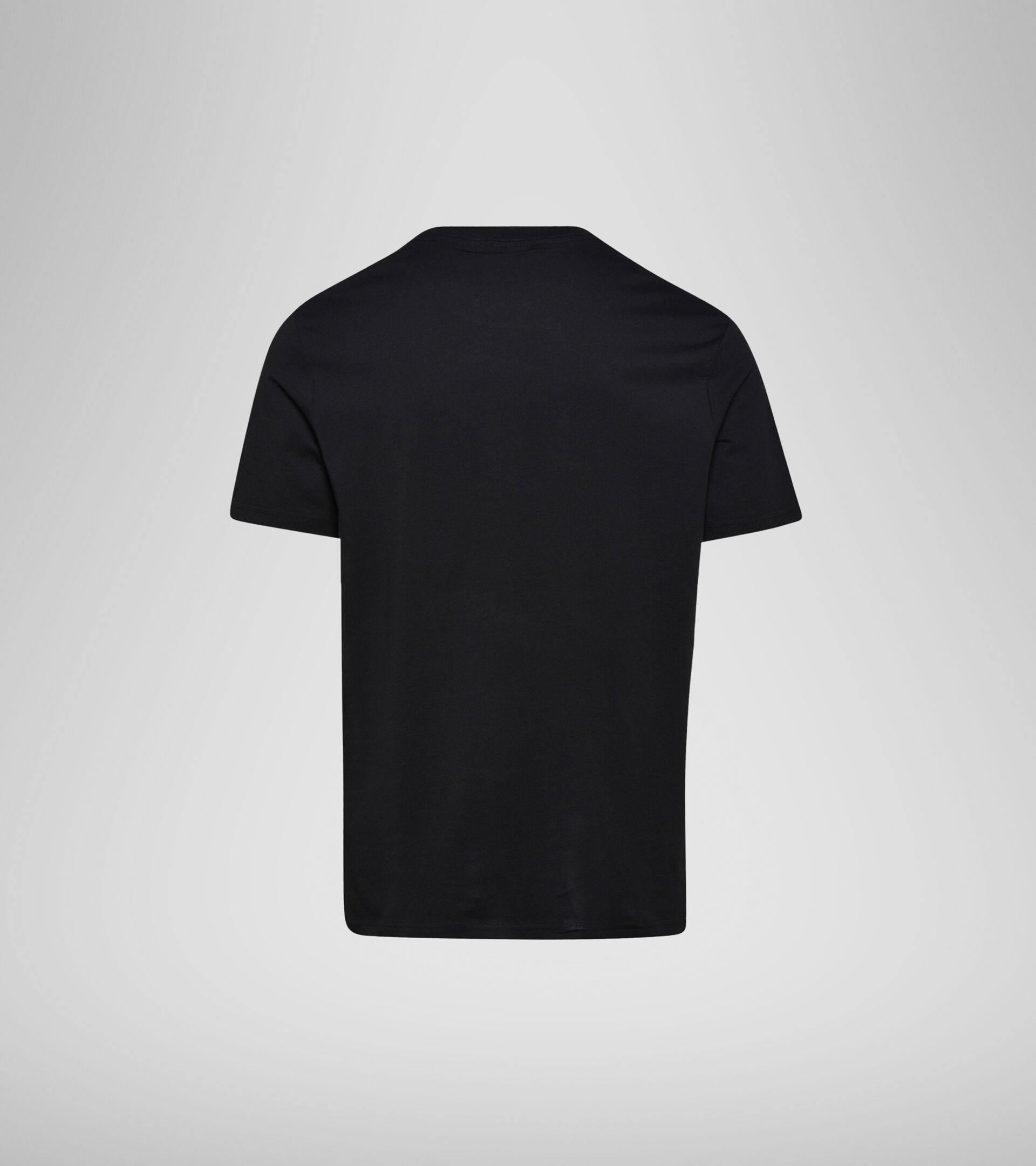 Apparel Sportswear UOMO SS T-SHIRT SPECTRA OC BLACK/WHITE MILK/ORANGEADE Diadora