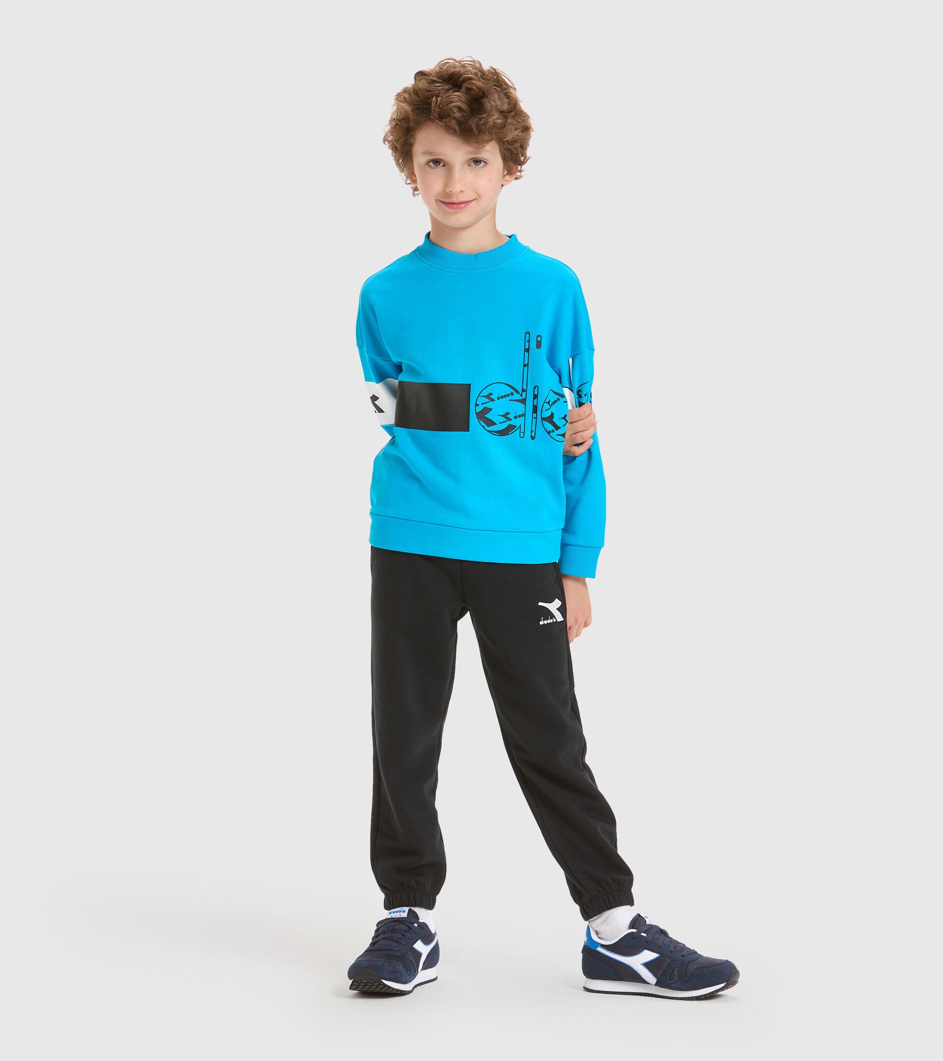Crew-neck sweatshirt - Kids JB.SWEATSHIRT CREW HOOPLA SKY-BLUE DANUBE - Diadora
