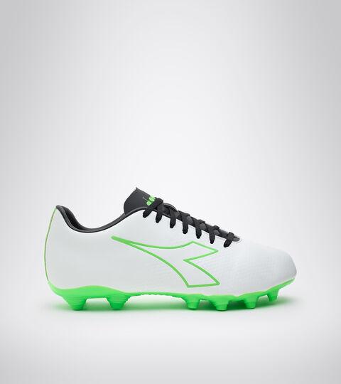 Chaussures de football pour terrains compacts - Unisexe PICHICHI 4 MG14 BLANC/VERT FLUO/NOIR - Diadora