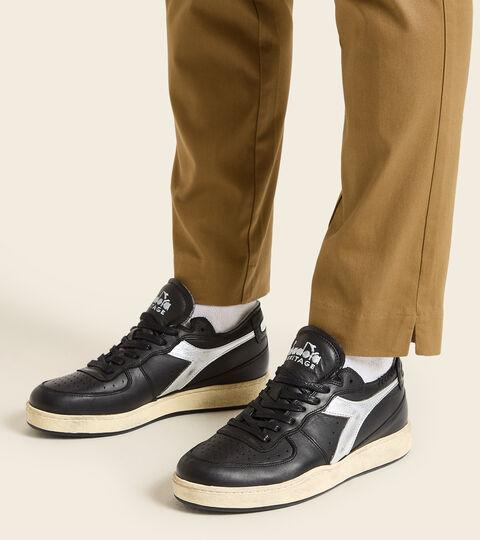 Chaussures Heritage - Unisexe MI BASKET ROW CUT NEW MOON NOIR - Diadora