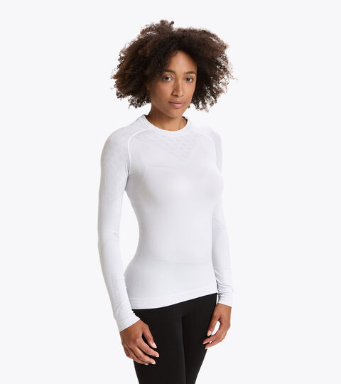 Camiseta de entrenamiento de manga larga - Mujer L. LS T-SHIRT ACT BLANCO VIVO - Diadora