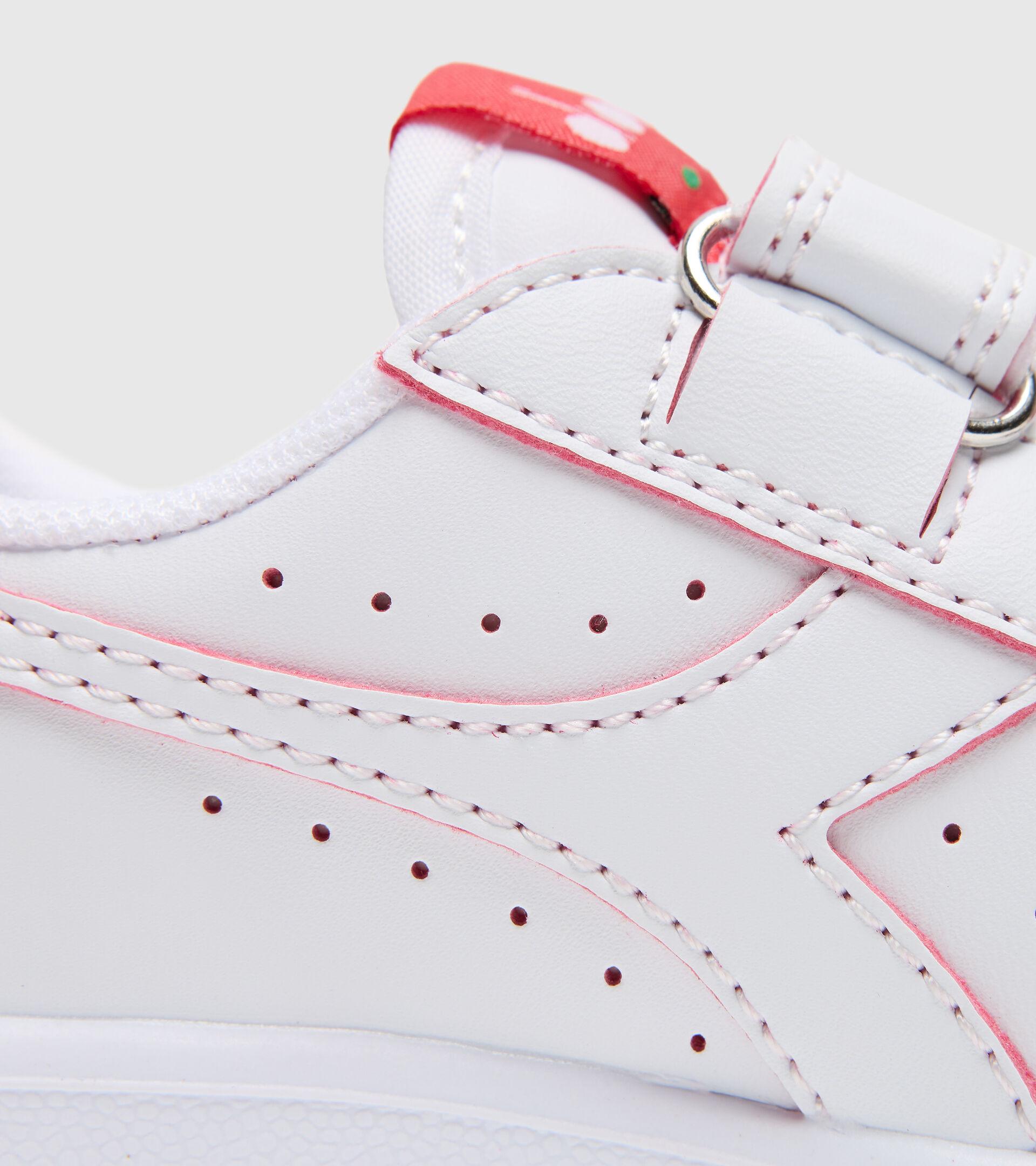 Footwear Sport BAMBINO GAME P SMASH TD WHITE/TOMATO RED Diadora
