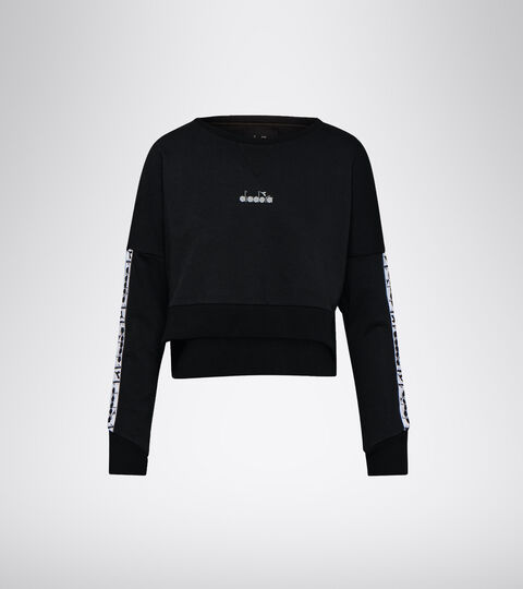 Training sweatshirt - Women L. LIGHTWEIGHT SWEAT BE ONE BLACK - Diadora