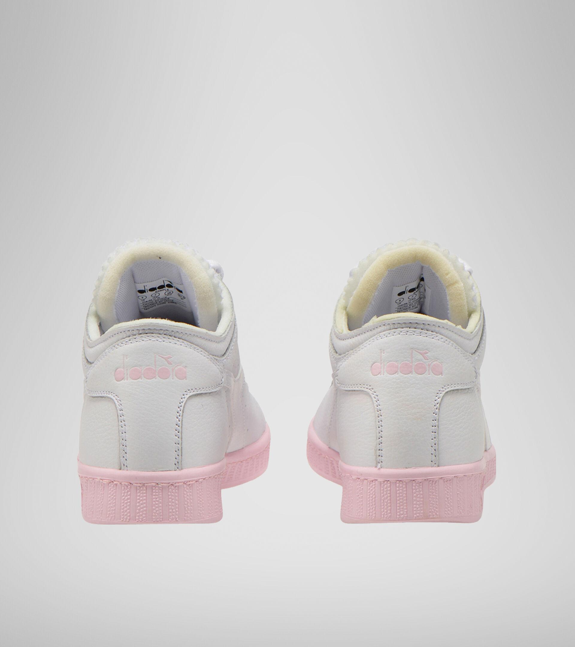 Footwear Sportswear DONNA GAME L ROW CUT SOLE BLOCK WN SUPER WHITE/PARFAIT PINK Diadora