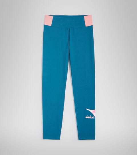 Sports trousers - Women L.LEGGINGS LUSH BLUE MORROCAN - Diadora
