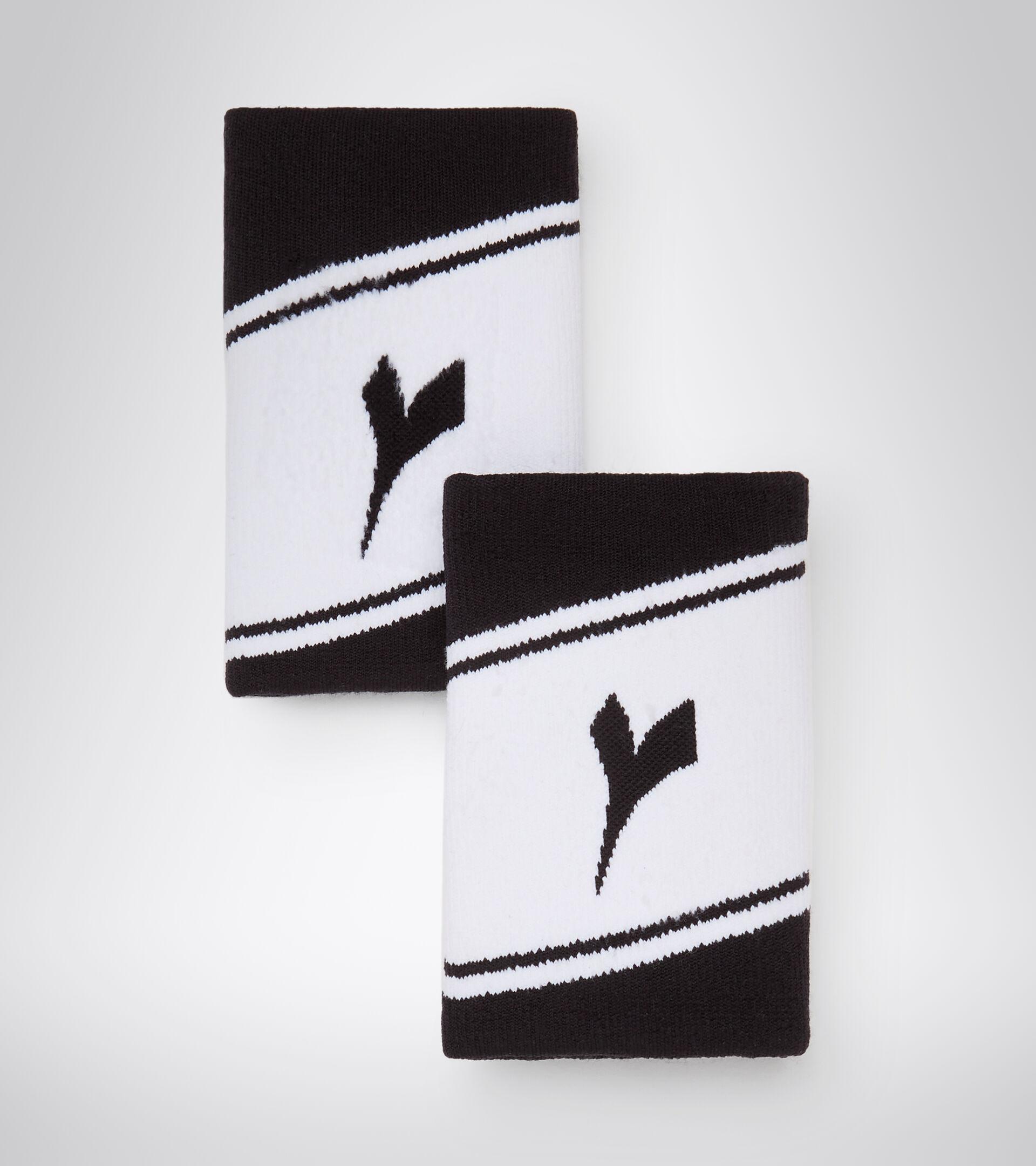 Accessories Sport UNISEX WRISTBANDS WIDE LOGO BLACK/OPTICAL WHITE Diadora