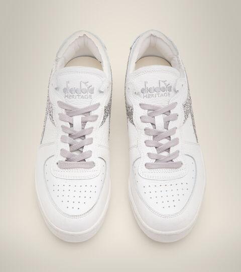 Footwear Heritage DONNA MI BASKET ROW CUT ANDROMEDA WN WHITE/SILVER Diadora