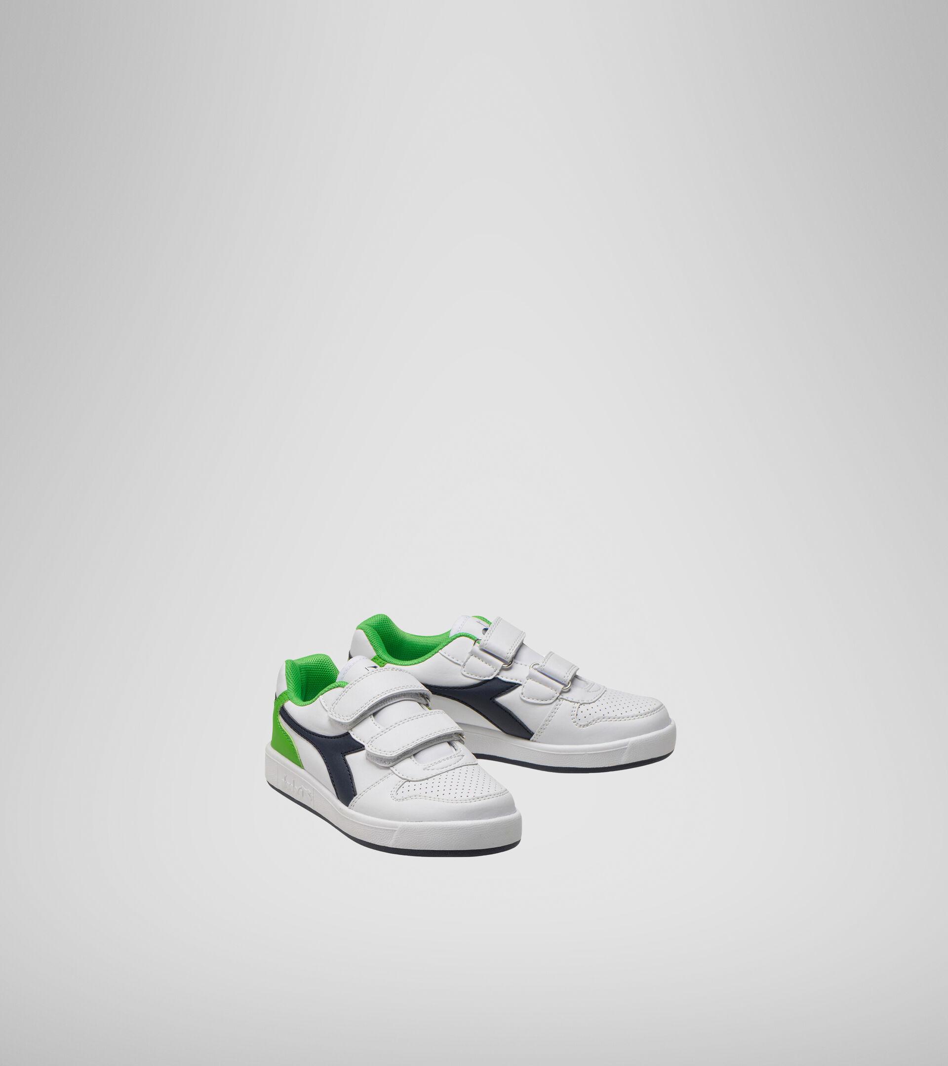 Footwear Sport BAMBINO PLAYGROUND PS BLCO/LIRIO NEGRO/VERDE CLASICO Diadora