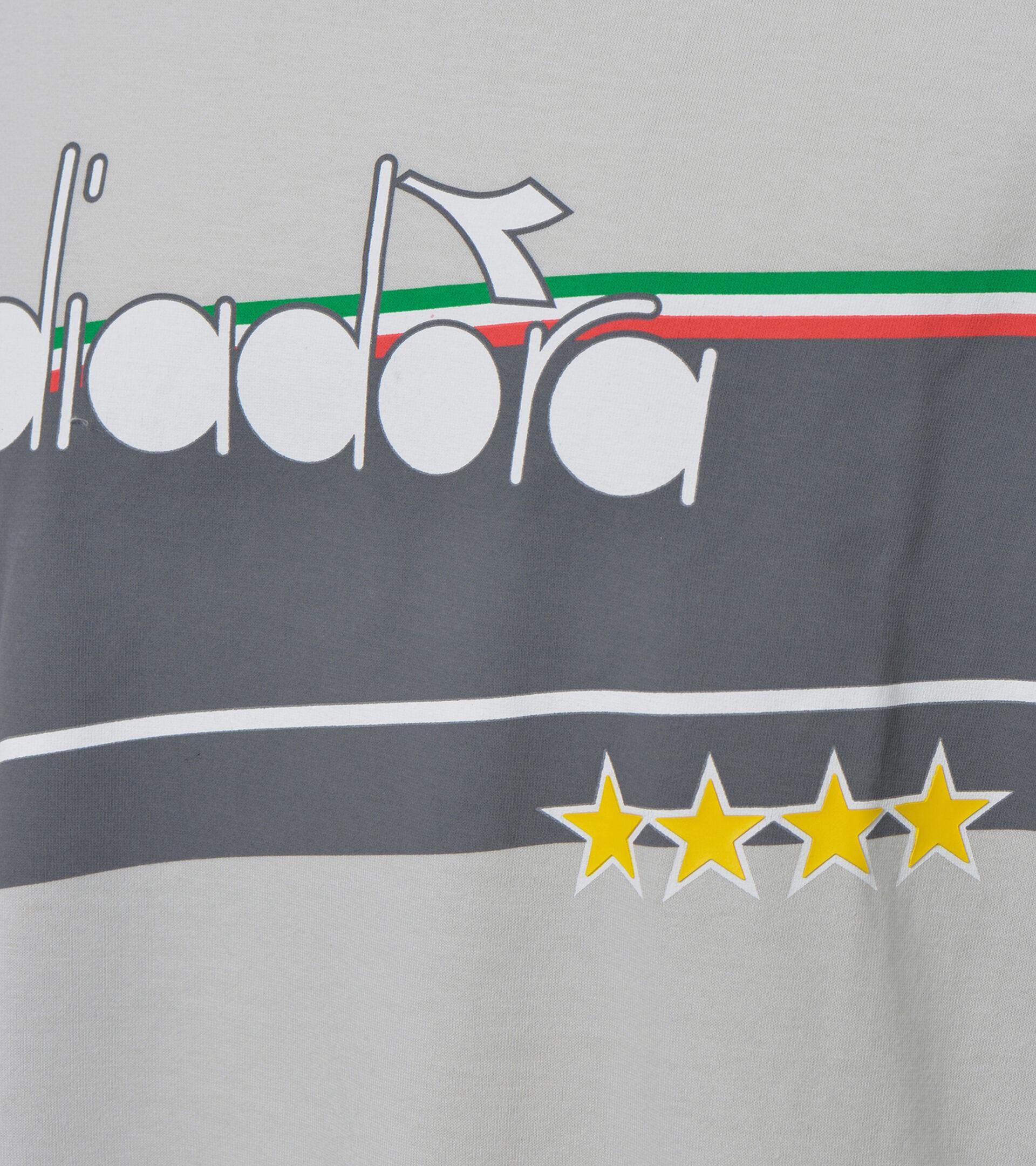 Apparel Sportswear UOMO T-SHIRT SS ICON STELLA GRIGIO PLEUROTUS Diadora
