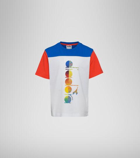 T-Shirt mit Logo - Jungs JB. T-SHIRT SS DIADORA CLUB STRAHLEND WEISSE - Diadora
