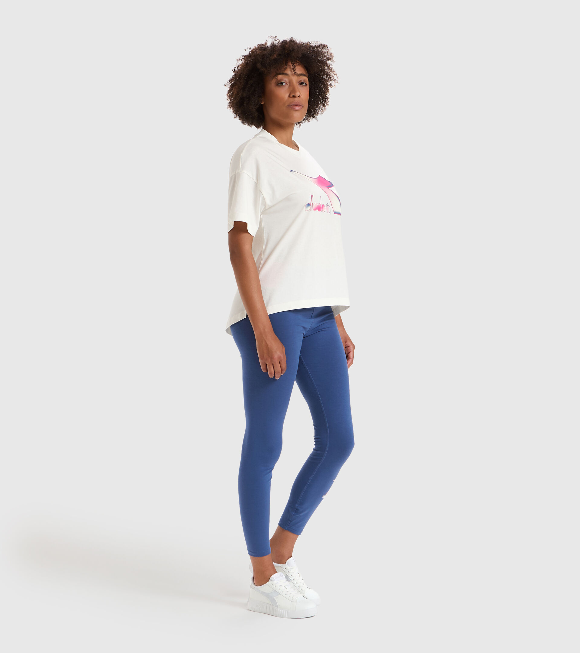 Camiseta - Mujer L.T-SHIRT SS LUSH BLANCO MURMURAR - Diadora