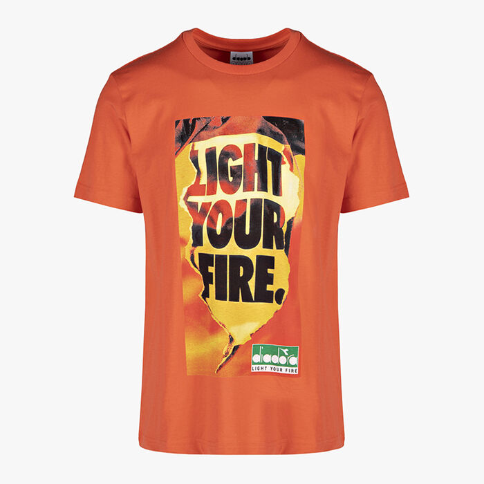 T-SHIRT SS LIGHT YOUR FIRE, RED TIGERLILY, large