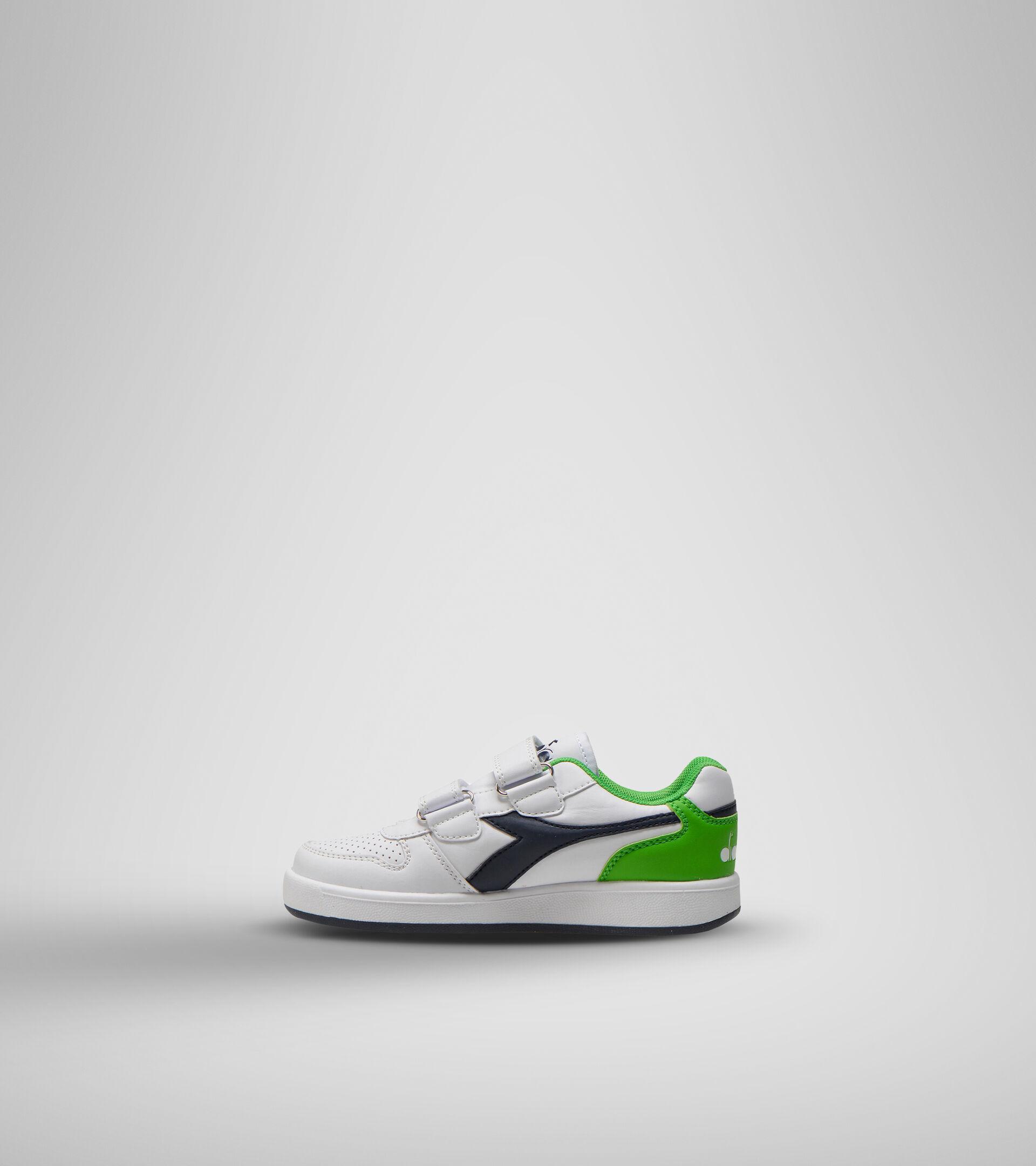 Footwear Sport BAMBINO PLAYGROUND PS WHITE/BLACK IRIS/CLASSIC GREEN Diadora
