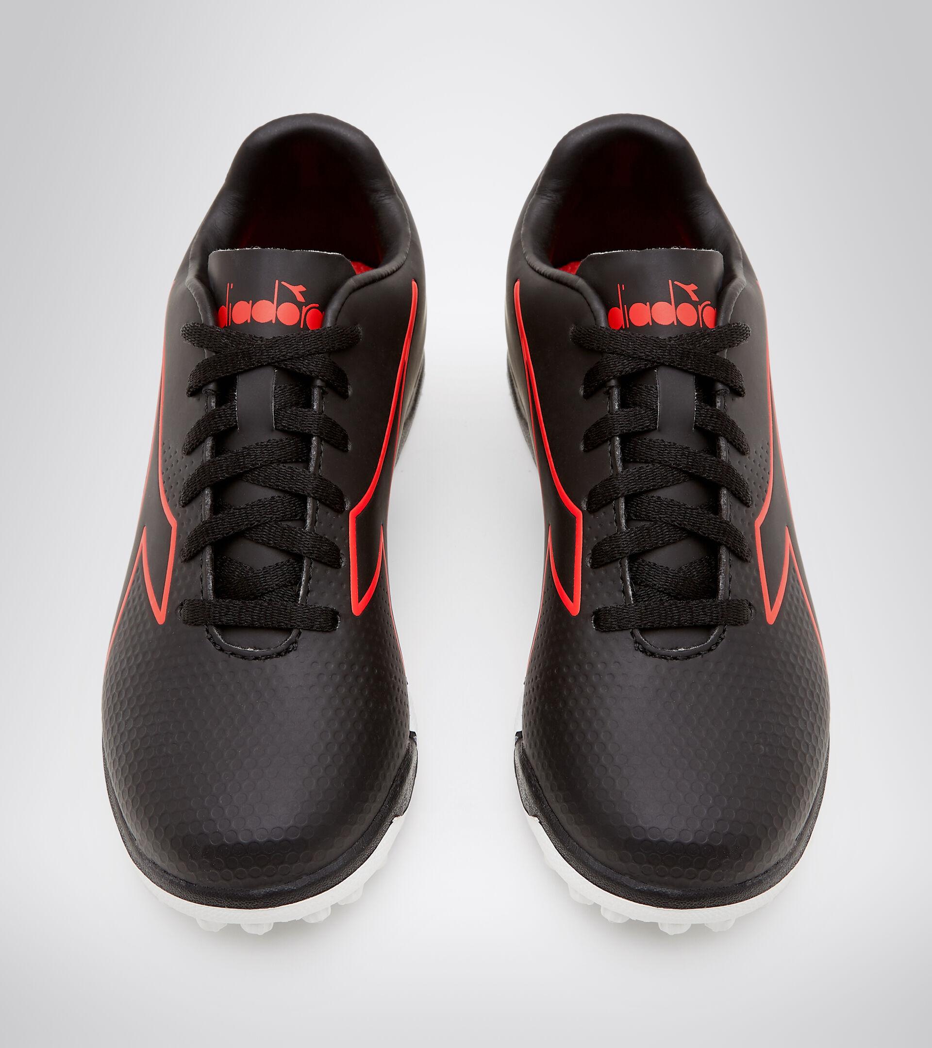 Footwear Sport BAMBINO PICHICHI 4 TF JR NERO/ROSSO FLUO/BIANCO Diadora