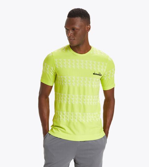 Made in Italy running T-shirt - Men SS SKIN FRIENDLY T-SHIRT GREEN SPRING - Diadora