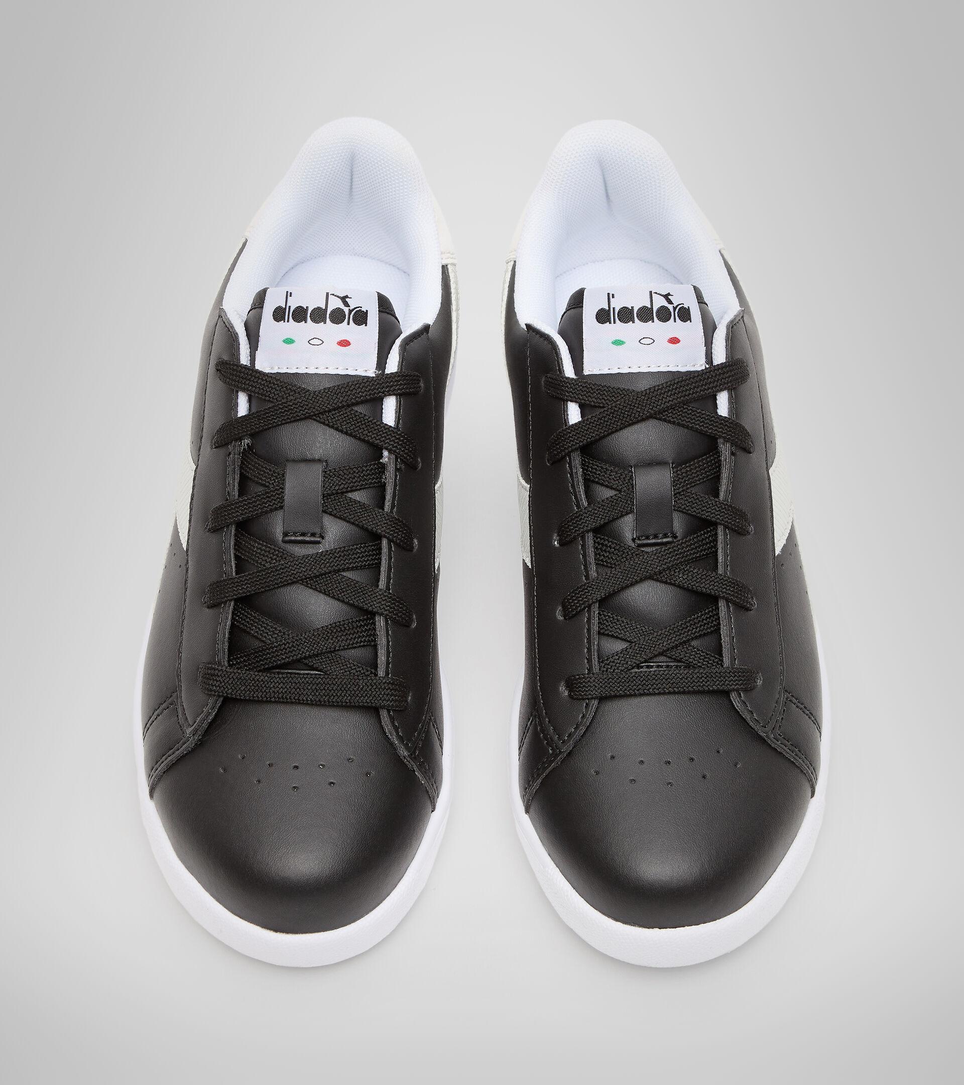 Footwear Sport BAMBINO GAME P GS GIRL BLACK /WHITE Diadora