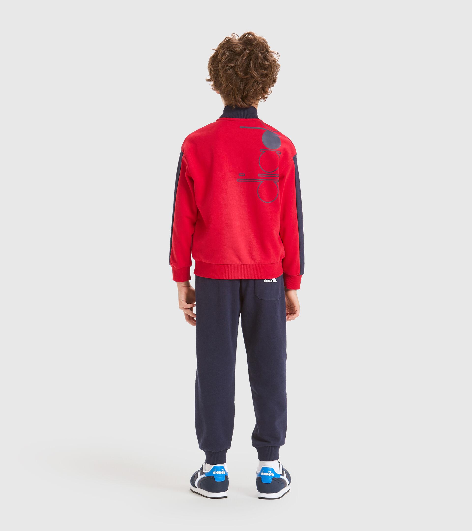 Trainingsanzug - Kinder JB.TRACKSUIT FZ HOOPLA TANGOROT - Diadora