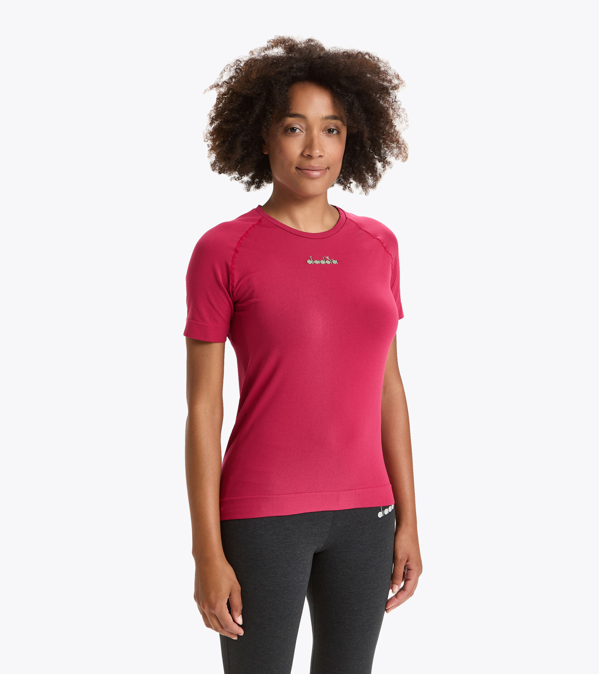 Running-T-Shirt Made in Italy - Damen L. SS SKIN FRIENDLY T-SHIRT KNALLIG ROSA - Diadora