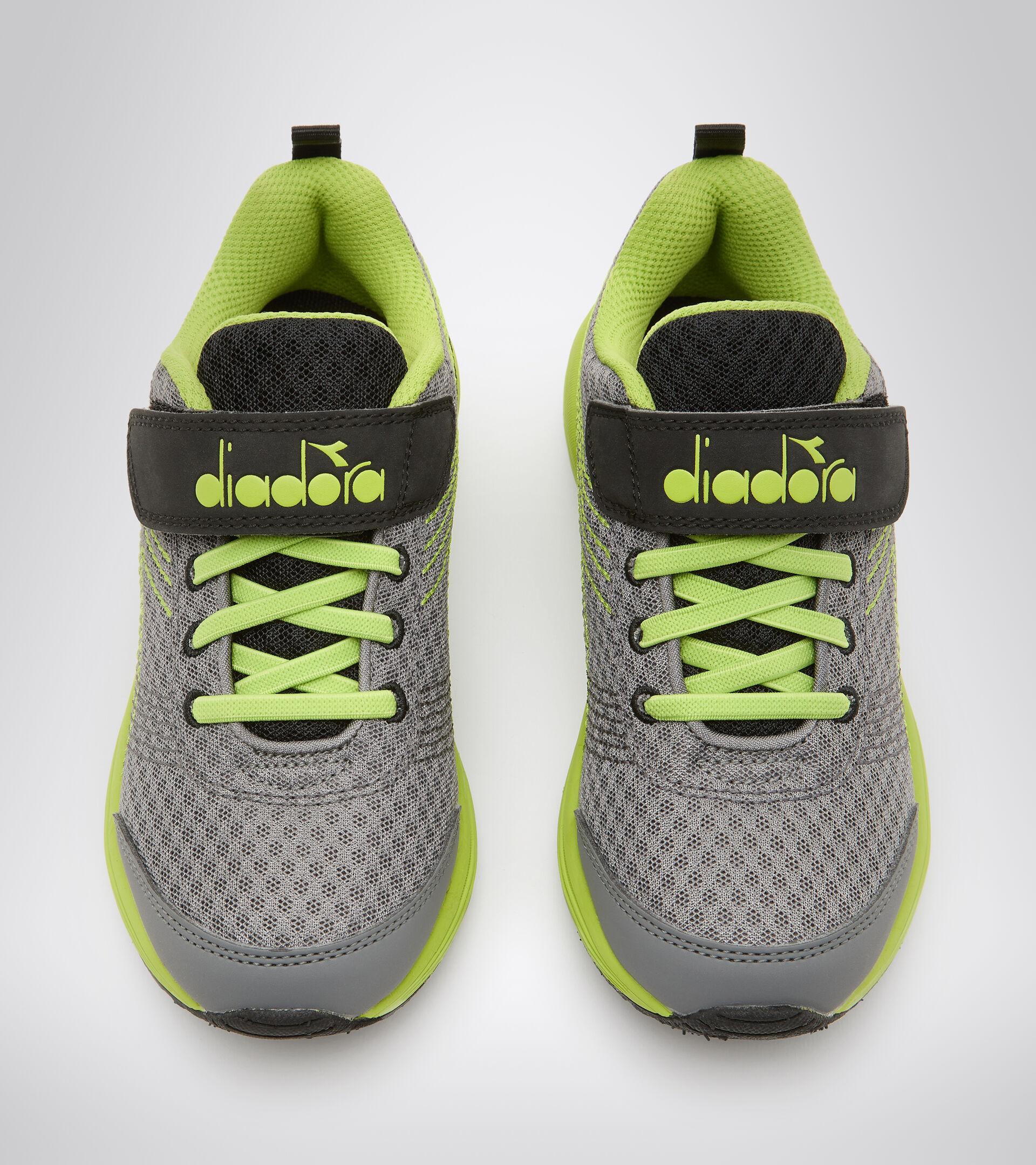 Zapatillas de running - Unisex Niños FLAMINGO 6 JR GRIGIO ACCIAIO/VERDE ACIDO - Diadora
