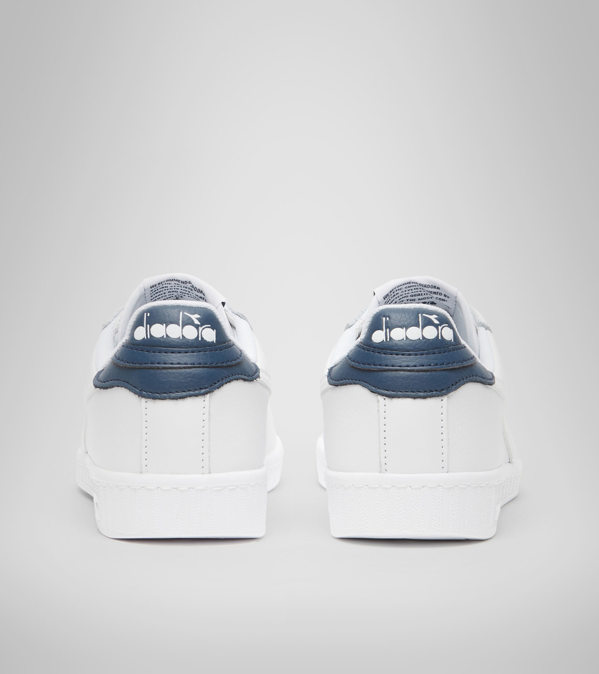 Zapatillas deportivas - Unisex GAME L LOW OPTICAL BIANCO/BLU DENIM SCURO - Diadora