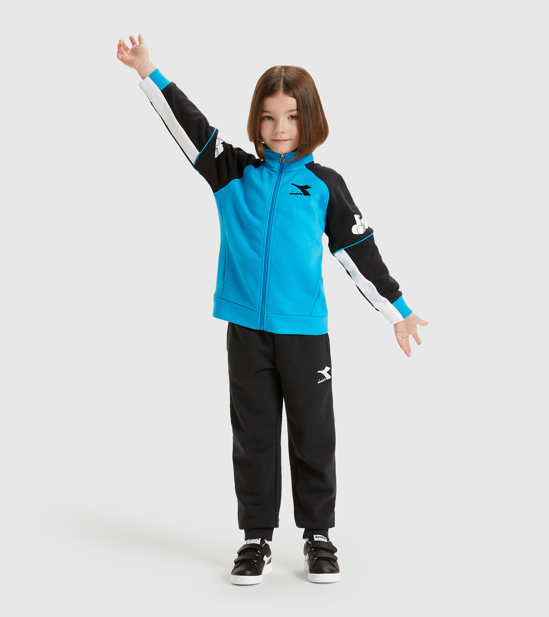 Tracksuit - Kids JU. FZ TRACKSUIT CUBIC SKY-BLUE DANUBE - Diadora