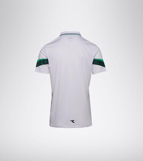 Tennis polo shirt - Men POLO SS HOLLY GREEN/WHT/BISTRO GREEN - Diadora