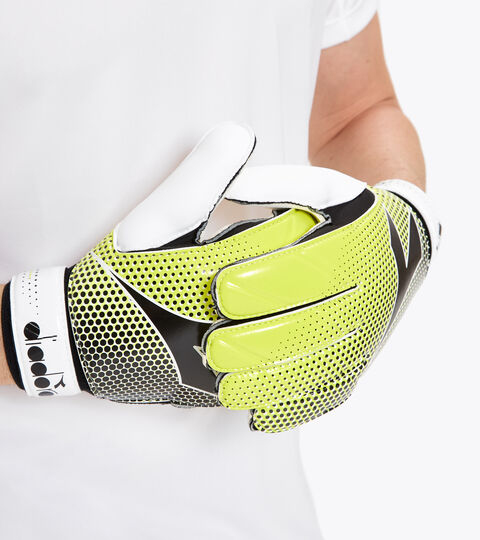 Goalkeeper gloves GK SPIDER WHITE/FLUO YELLOW/BLACK. - Diadora