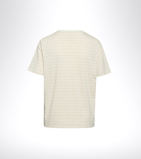 Sports T-shirt - Women L. SS T-SHIRT PLUS BE ONE ALL OVER WHISPER WHITE - Diadora