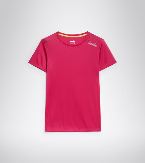 Lauf-T-Shirt - Damen L. SS CORE TEE KNALLIG ROSA - Diadora