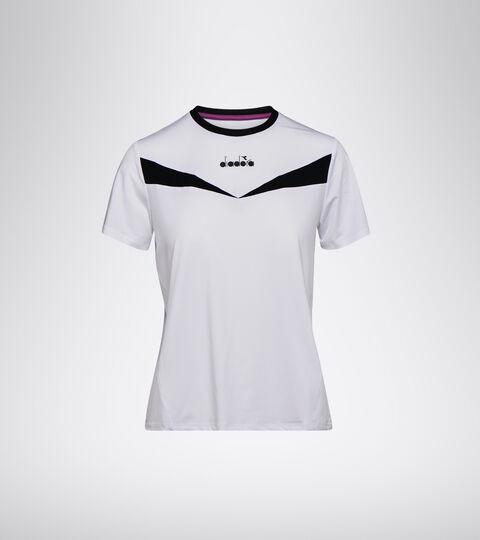 Tennis T-shirt - Women L. SS T-SHIRT OPTICAL WHITE/BLACK - Diadora
