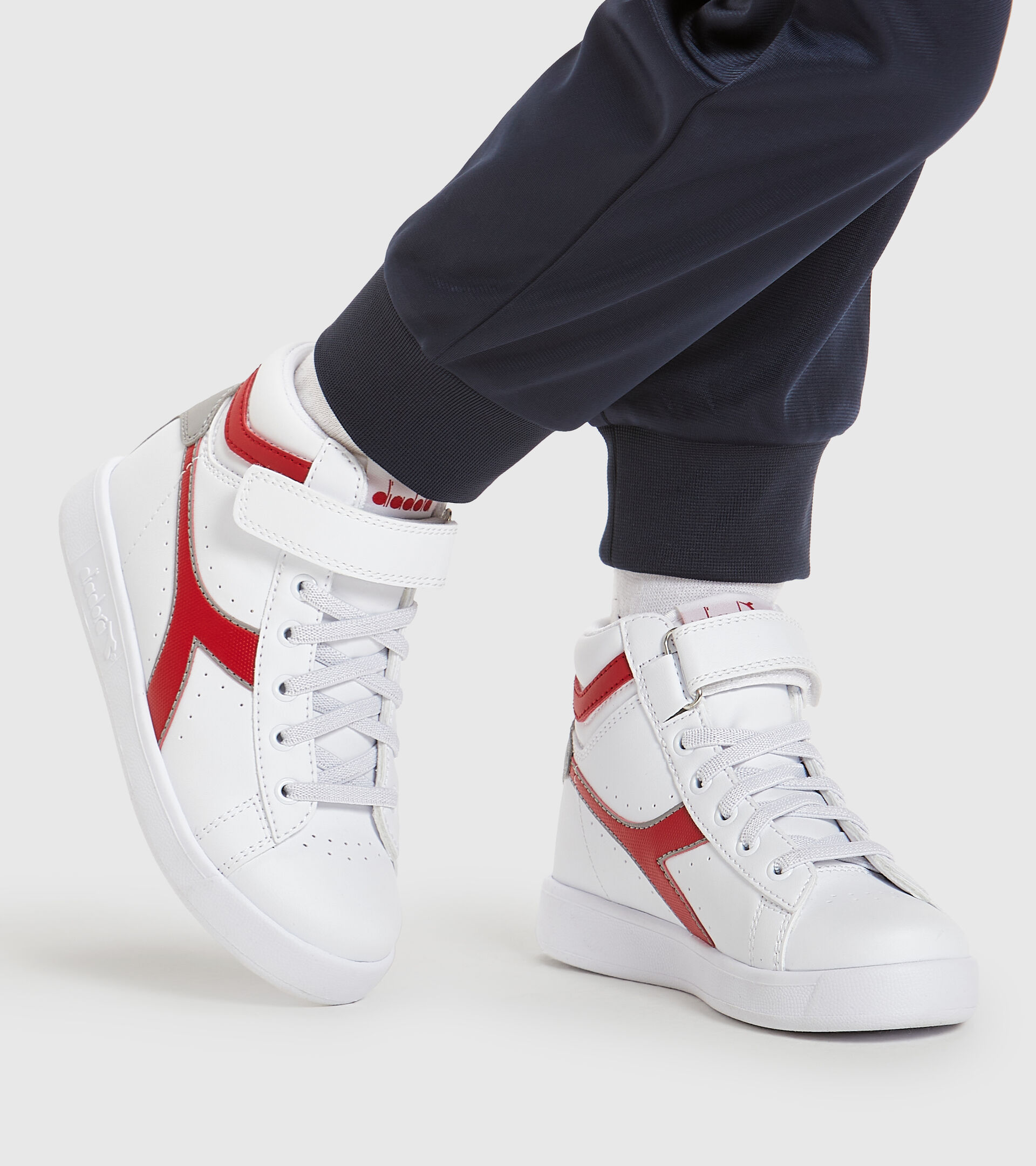 Footwear Sport BAMBINO GAME P HIGH PS BIANCO/ROSSO TANGO Diadora