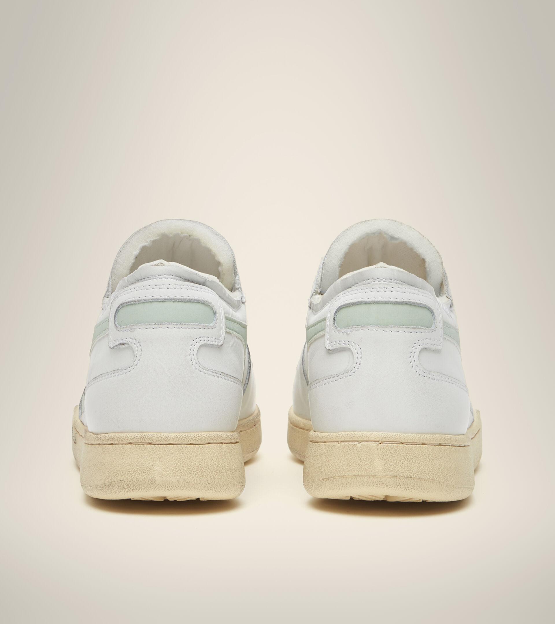 Chaussures Heritage - Unisexe MI BASKET ROW CUT BLANC/VERT FUMEE - Diadora