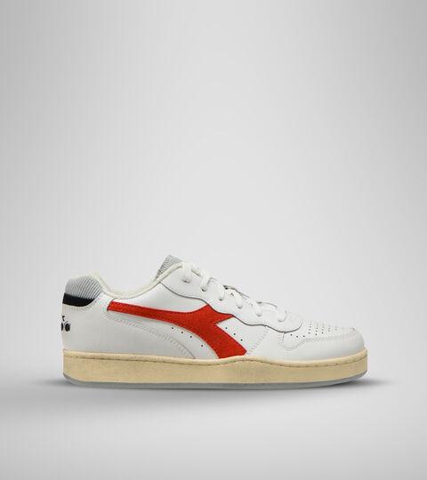 Footwear Sportswear UNISEX MI BASKET LOW ICONA BIANCO/ROSSO FERRARI ITA Diadora
