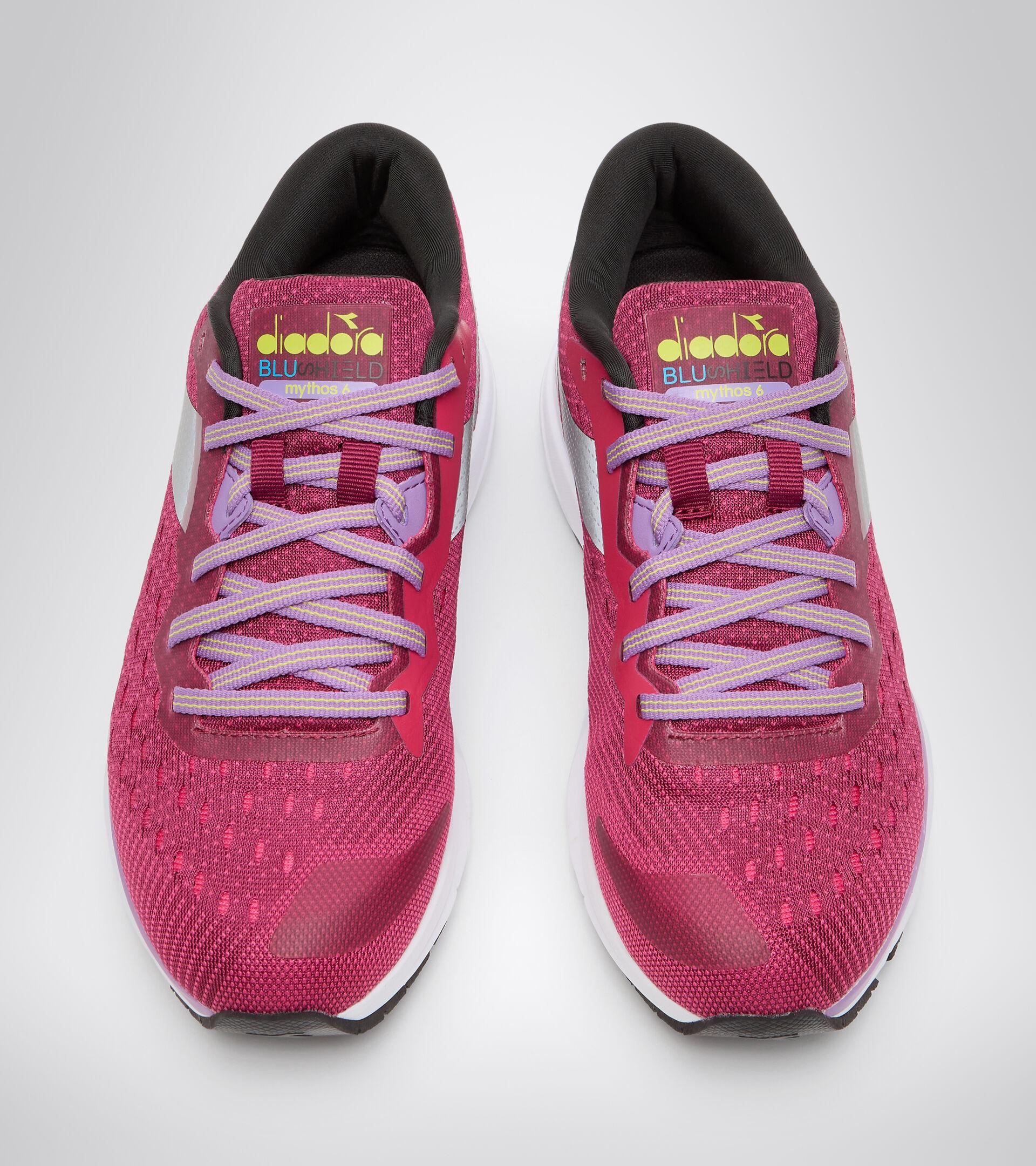 Zapatillas de running - Mujer MYTHOS BLUSHIELD 6 W RODODENDRO/ROSADO LLAMATIVO - Diadora
