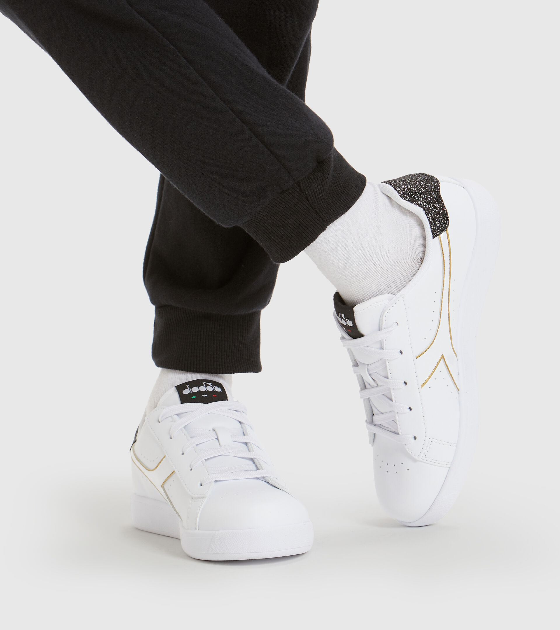 Footwear Sport BAMBINO GAME P GS GIRL BIANCO/NERO/ORO Diadora