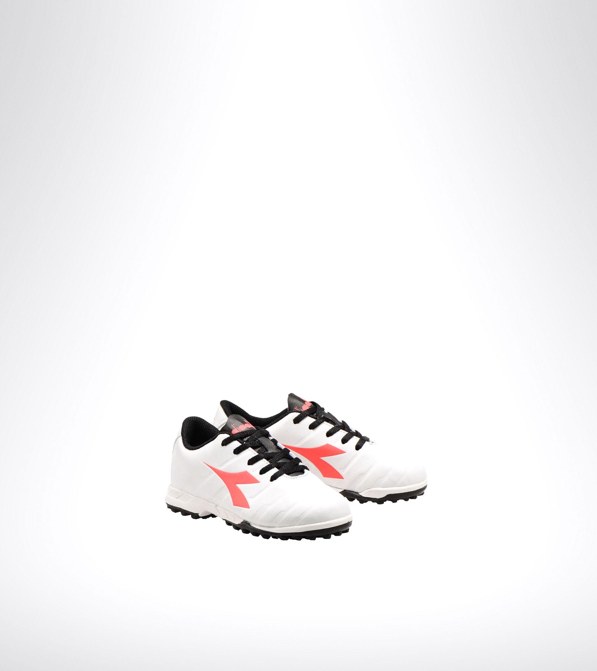 Footwear Sport BAMBINO PICHICHI 3 TF JR BIANCO/NERO/ROSSO FLUO Diadora