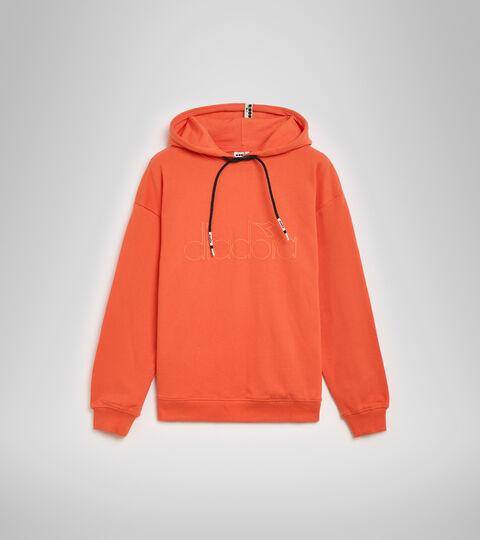 Hooded sweatshirt - Unisex HOODIE DIADORA HD RED TIGERLILY - Diadora