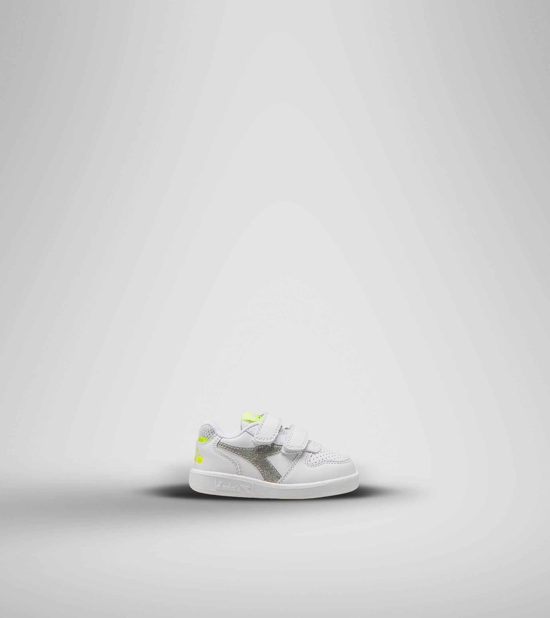 Footwear Sport BAMBINO PLAYGROUND TD GIRL WHITE/YELLOW FLUO. Diadora