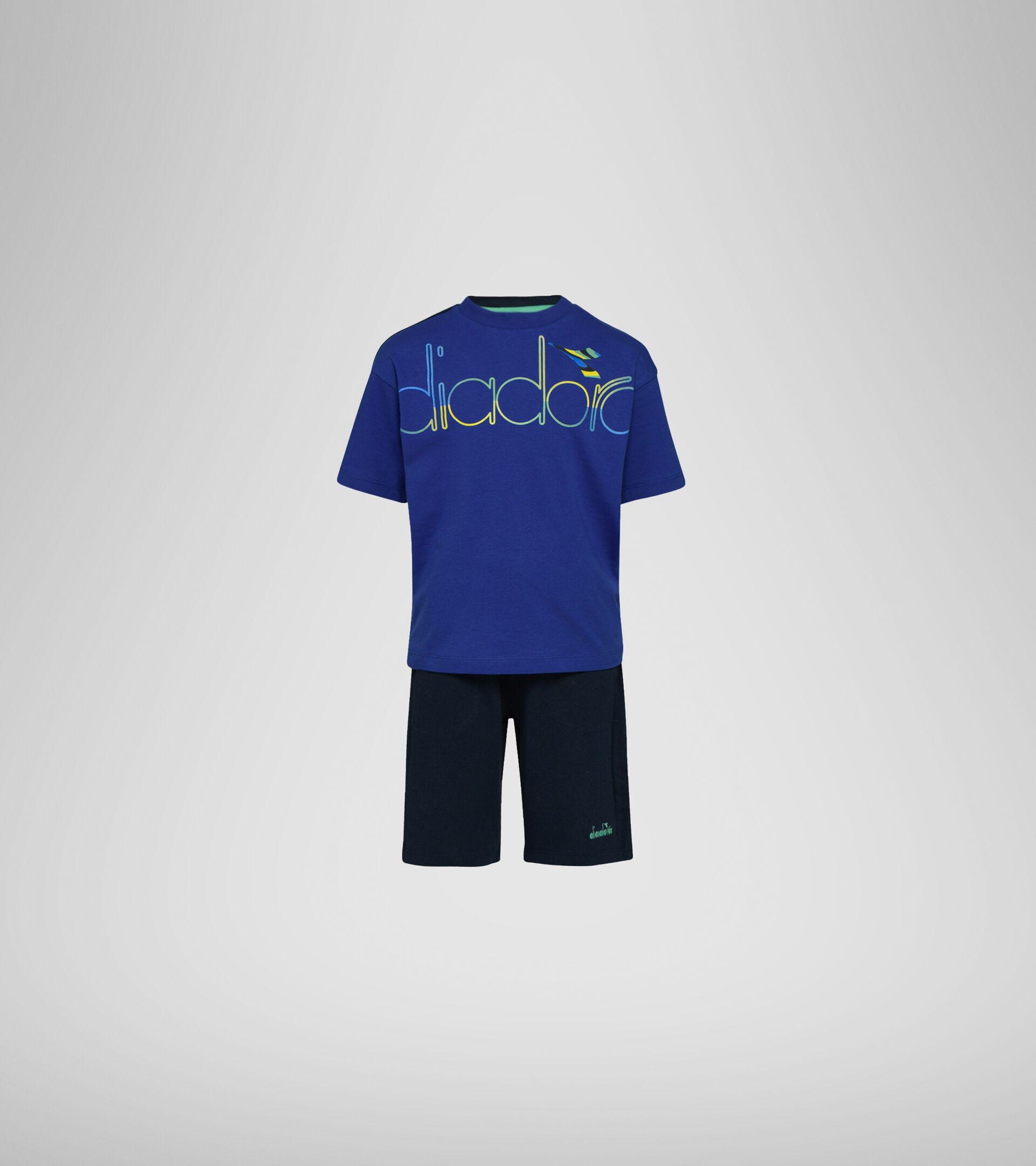 Apparel Sport BAMBINO JB. SET SS SPOTLIGHT BLUE CLEMATIS Diadora
