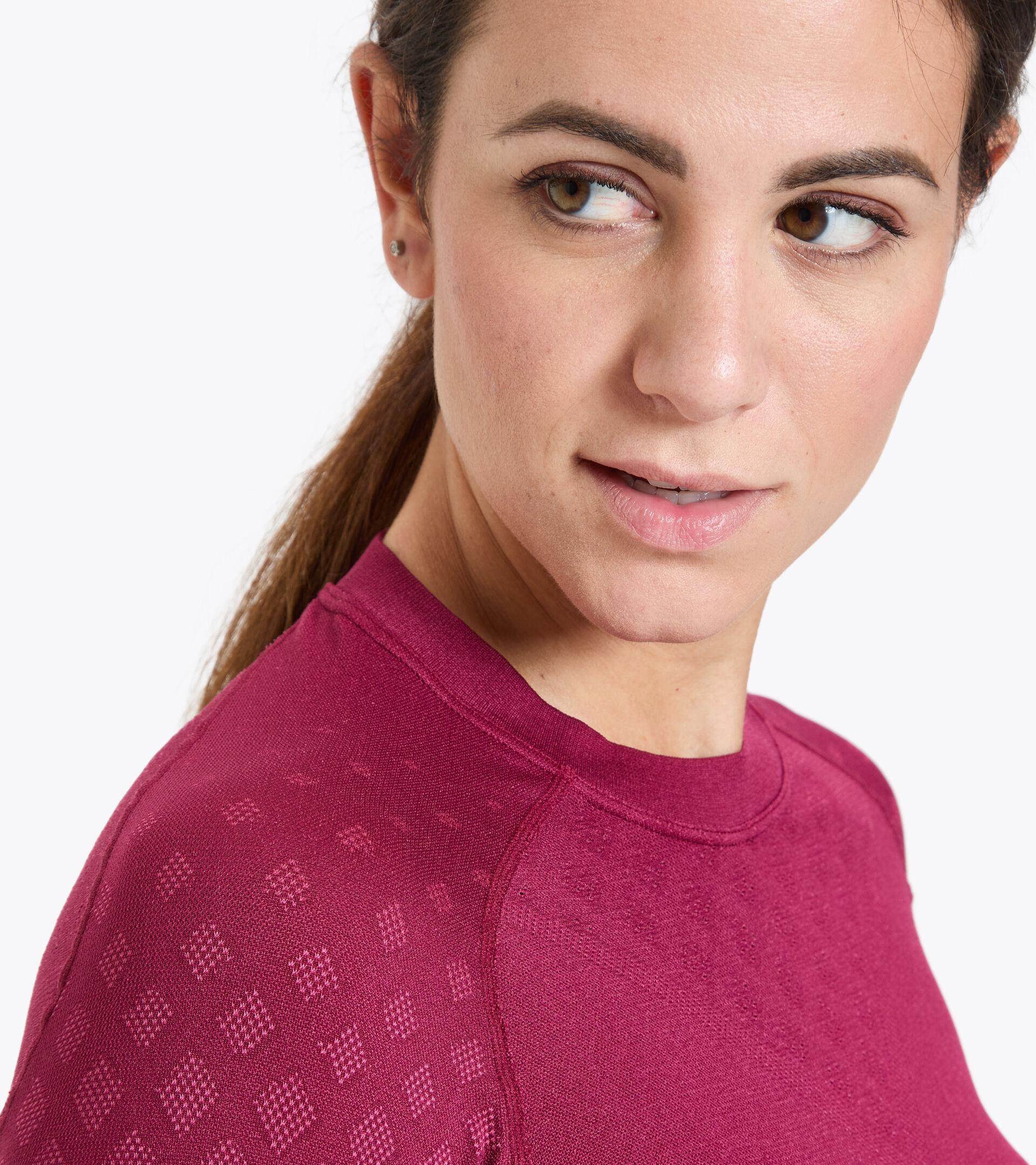 Camiseta de entrenamiento de manga larga - Mujer L. LS T-SHIRT ACT RODODENDRO - Diadora
